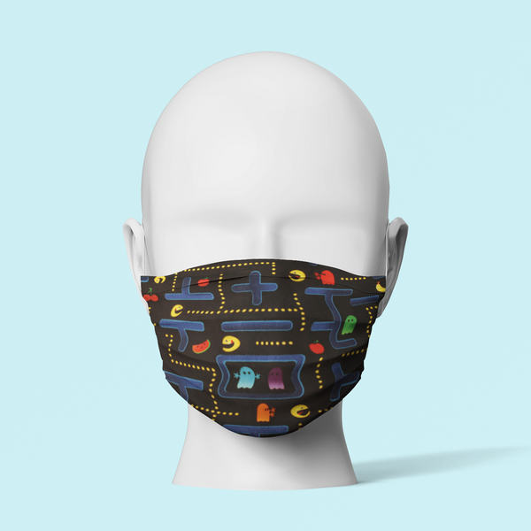 Ghost Pac Man - Traditional Face Mask  (In Stock)