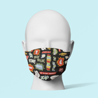 Pow! Trick or Treat - Traditional Face Mask  (In Stock)