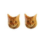 Orange Tabby Cat Earring