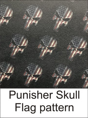 Punisher Skull Flag Pattern