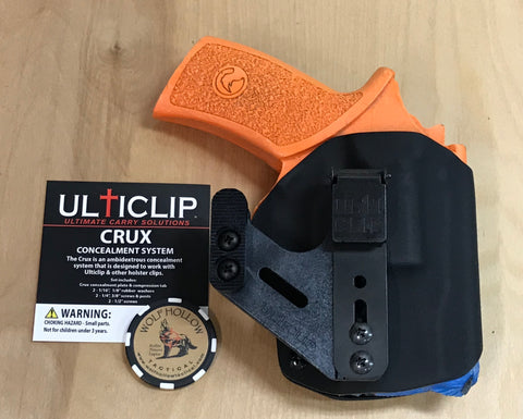 Ulticlip Crux Concealment system, holster.