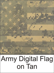 Army Digital Flag on Tan