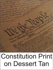 Constitution Print on Dessert Tan