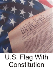 U.S. Flag with Constitution