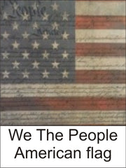 We the People American Flag