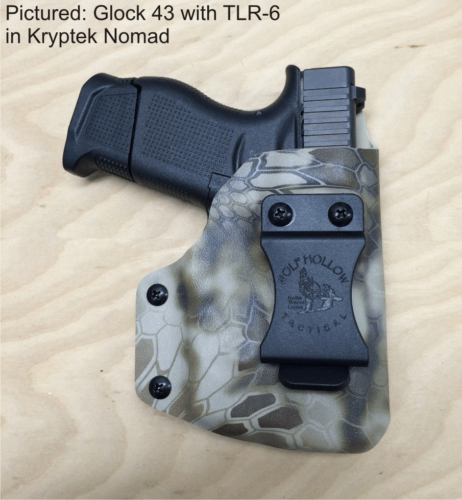 tlr6 holster. Glock 43 with TLR-6 light laser holster