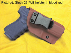 Glock 23 IWB Kydex holster in blood red