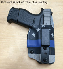 Glock 43 thin blue line holster