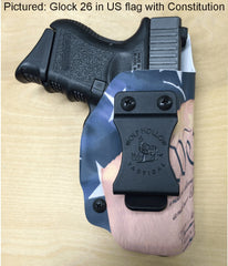 Glock 26 holster, Constitution with American flag