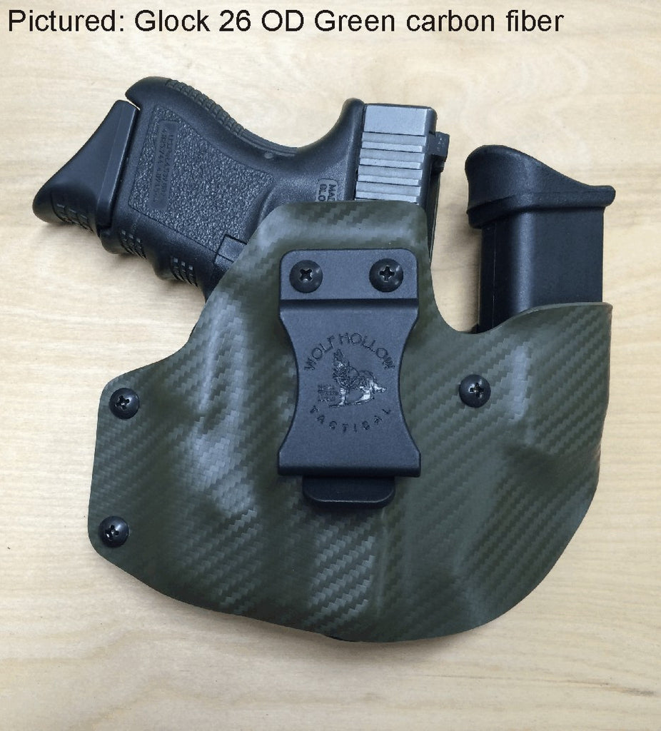 Wolf Pack, AIWB Kydex pistol/mag holder  | Wolf Hollow Tactical