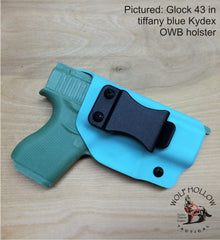 Glock 43 Kydex holster in Tiffany Blue