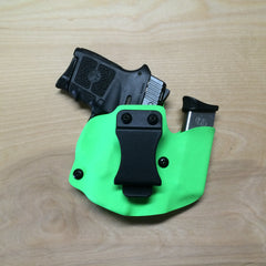 S&W Bodyguard in Wolf Pack AIWB in zombie green Kydex
