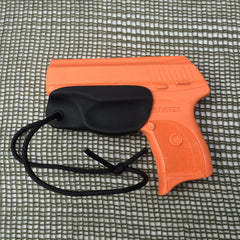 Ruger LC9 in black Kydex trigger guard holster.