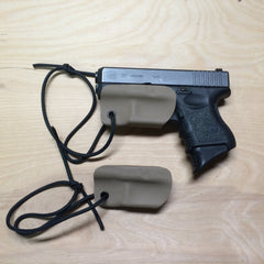 Glock 26 in FDE (fall) Kydex trigger guard holster