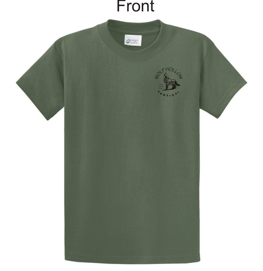 OD Green Odins Wolves front shirt