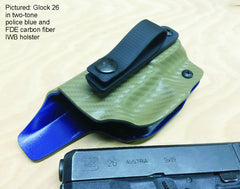 Two tone  Kydex holsters.