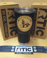 RTIC 30 oz. Tumbler matte black with Wolf Hollow Tactical logo