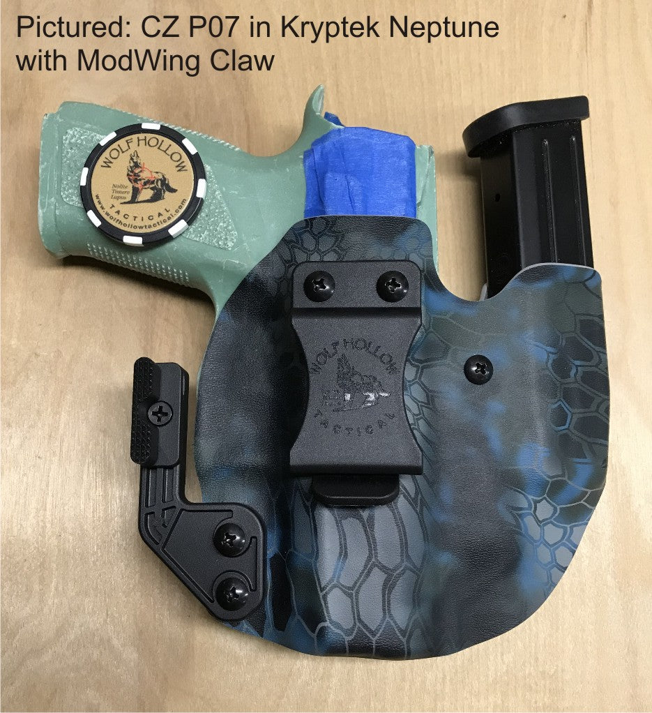 CZ P07 in Kryptek Neptune with ModWing Claw