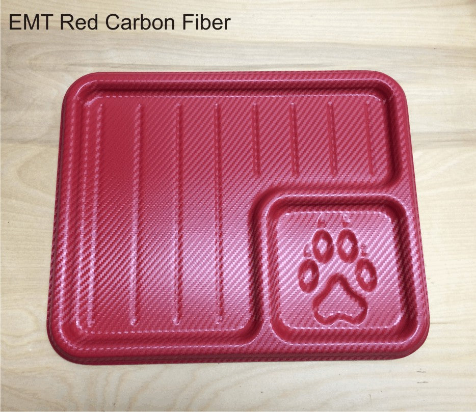 EMT Red Carbon Fiber EDC Tray