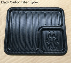 Black carbon fiber edc dump tray