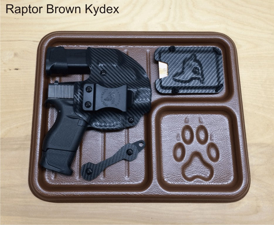 Raptor brown EDC tray