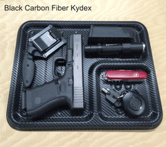 Black carbon fiber edc tray, pocket valet