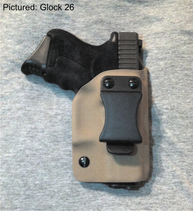 Glock 26 Flat Dark Earth (Fall) kydex IWB holster