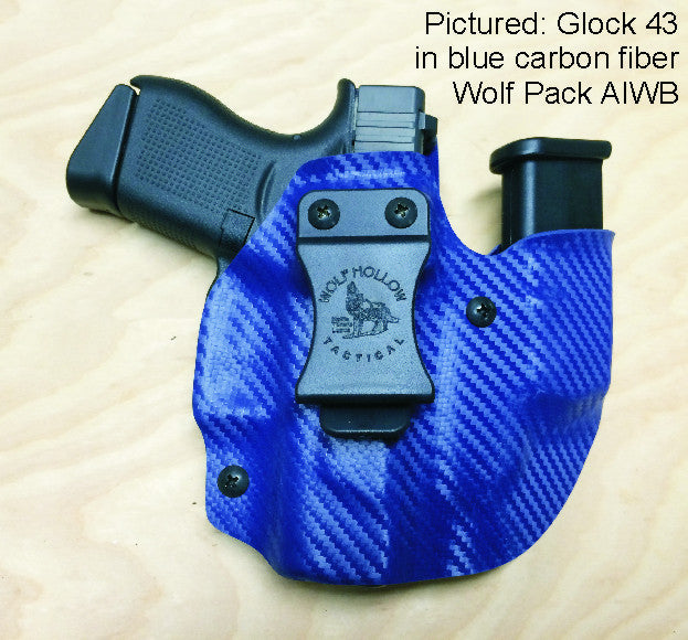 Wolf Pack, AIWB Kydex pistol/mag holder.