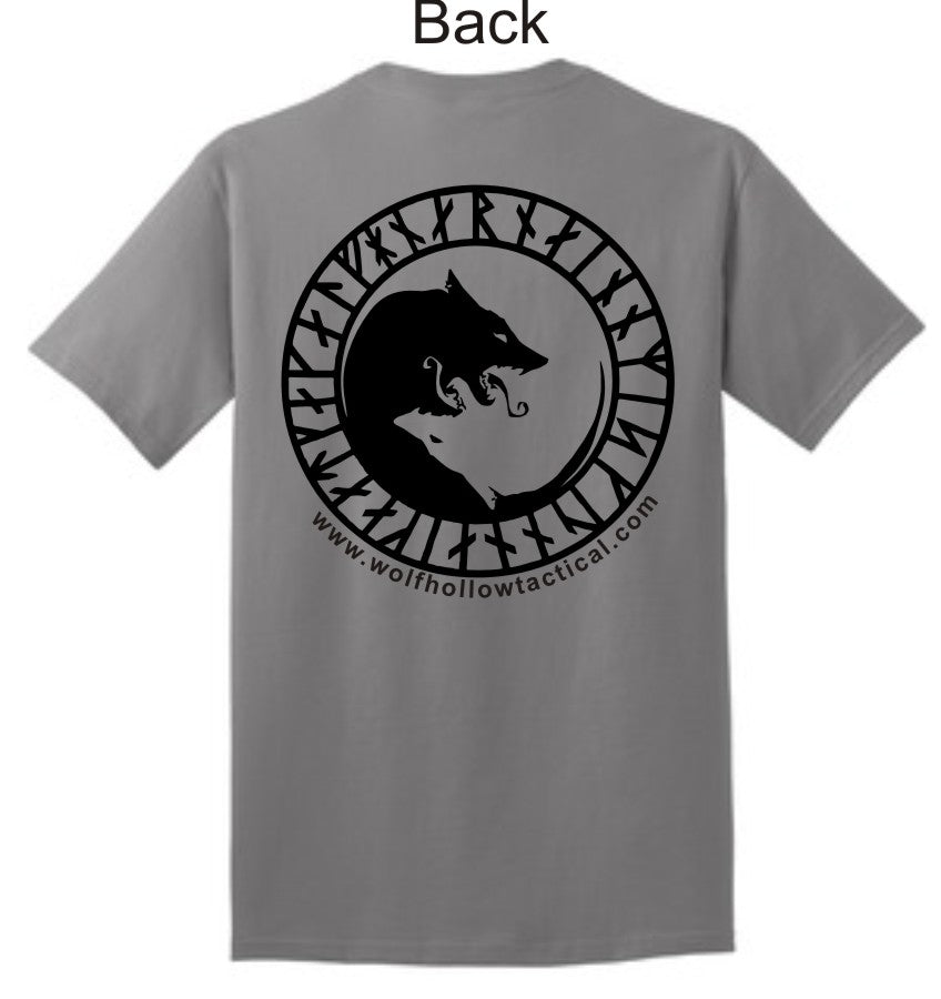 Grey Odins Wolves back shirt