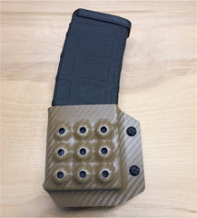 AR 15 Magazine Holder in FDE Carbon Fiber