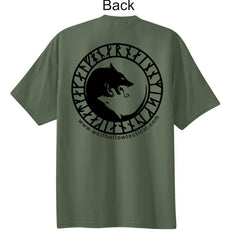 OD Green Odins Wolves back shirt