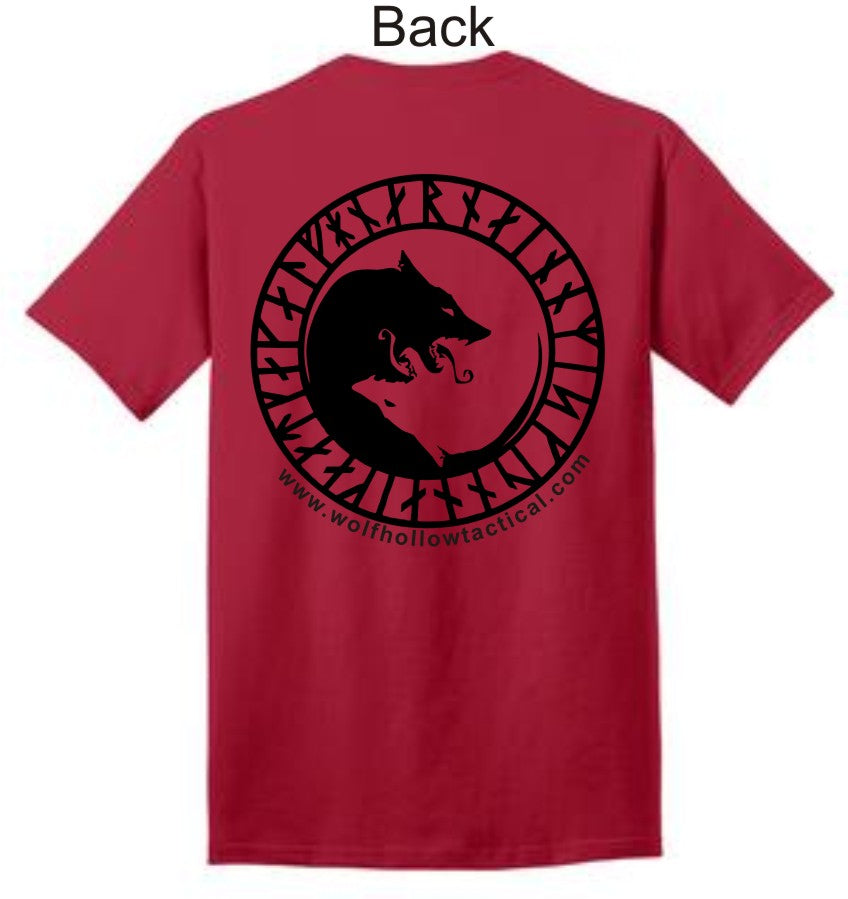 Red Odins Wolves back shirt