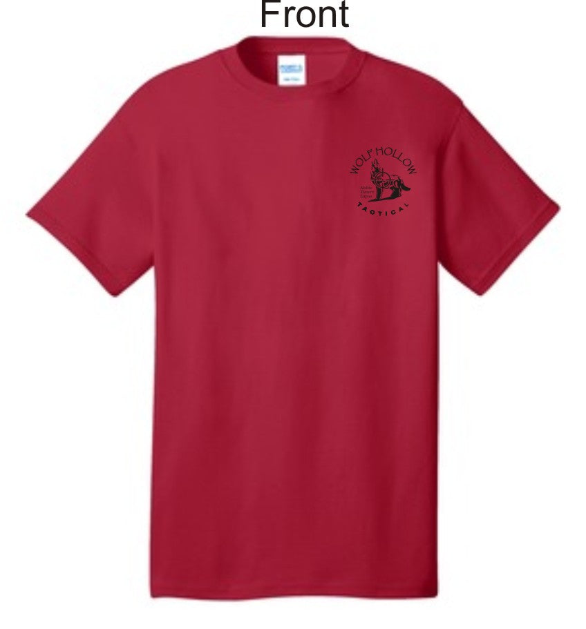 Red Odins Wolves front shirt