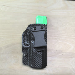 Glock 19 zombie green and black carbon fiber holster