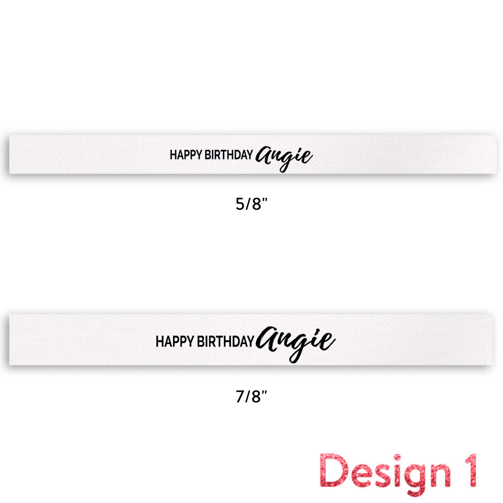 Happy Birthday + Name (Multiple Designs) - 7/8""