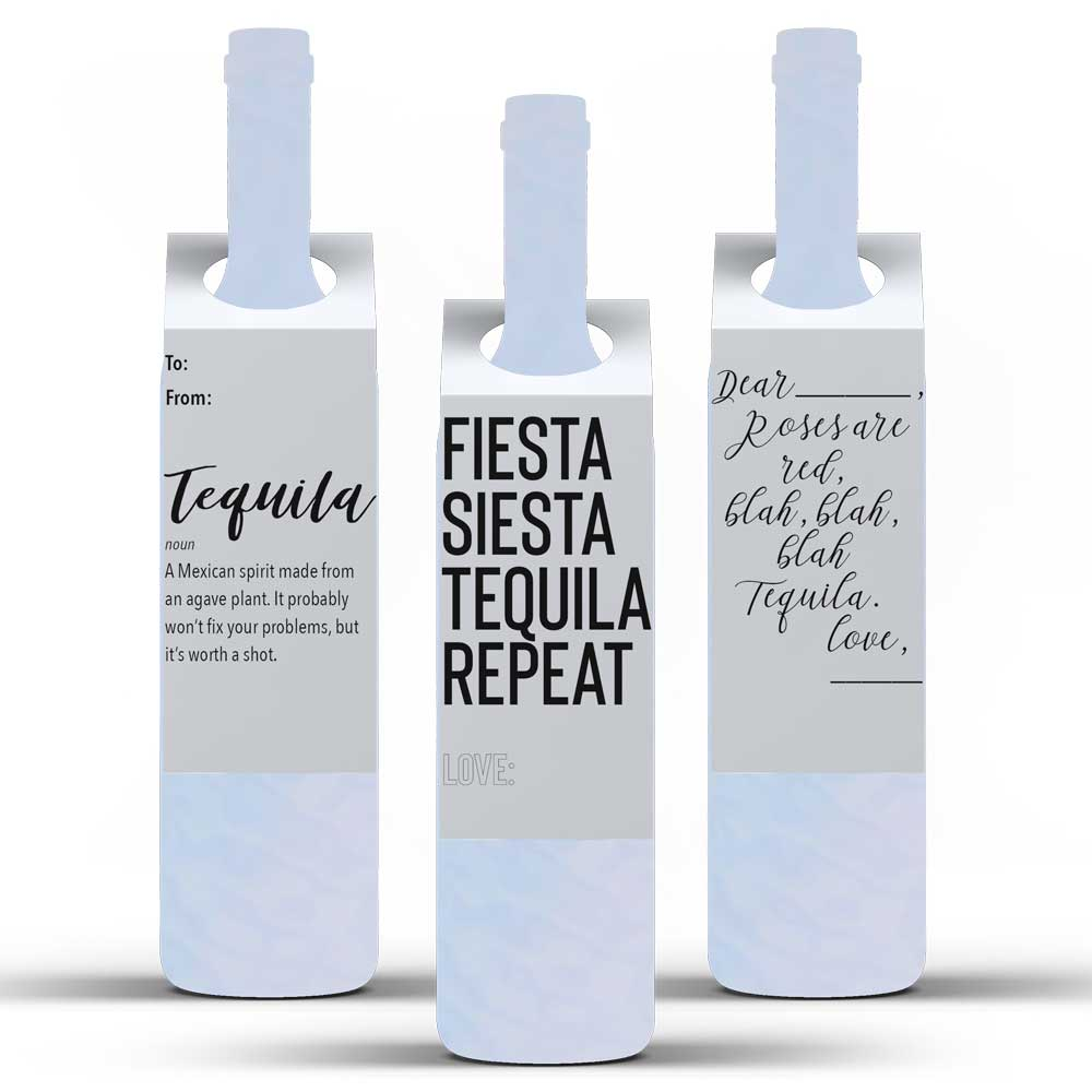 """Tequila Lovers"" Trio of Tags"