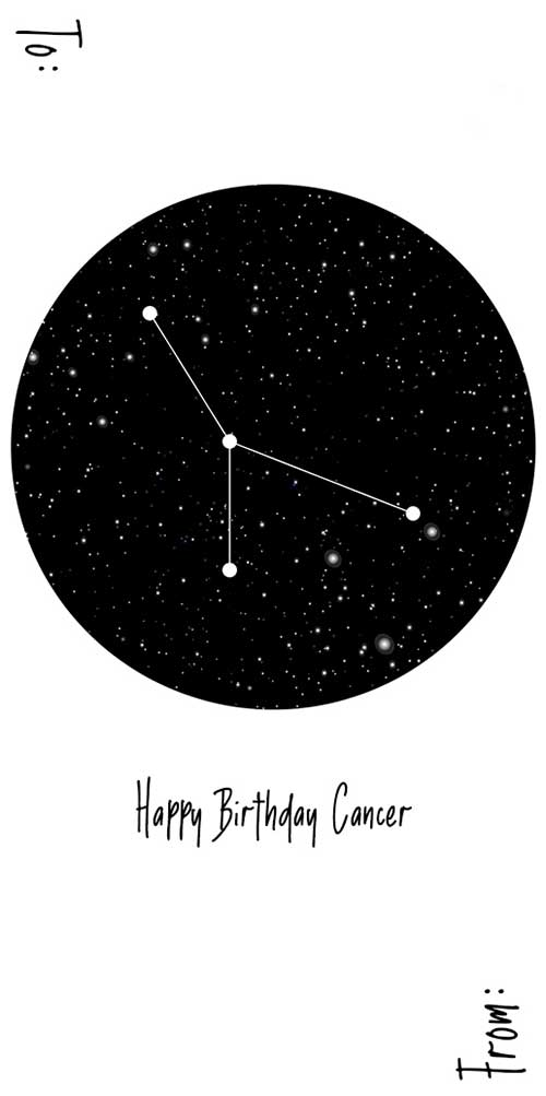 Happy Birthday Cancer (Constellation) - Spirit Tag