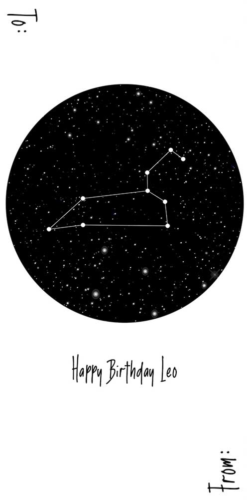 Happy Birthday Leo (Constellation) - Spirit Tag