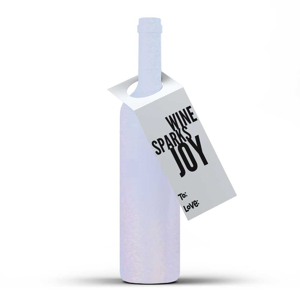 Wine Sparks Joy - Spirit Tag