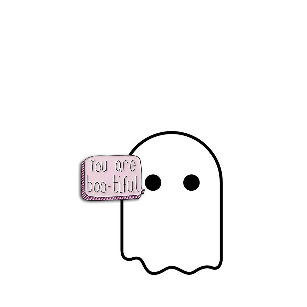 You Are Boo-tiful tag + Matching Enamel Pin - Extra-Spirited Spirit Tag