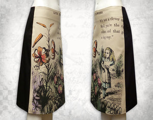 Alice in Wonderland 'Live Flowers' Skirt Coloured~ 3/4 length