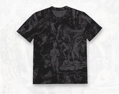 William Blake collage men's cotton short sleeve T-shirt ~ Charcoal