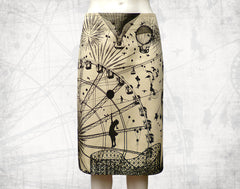 Fairground Attraction Skirt beige  3/4 length