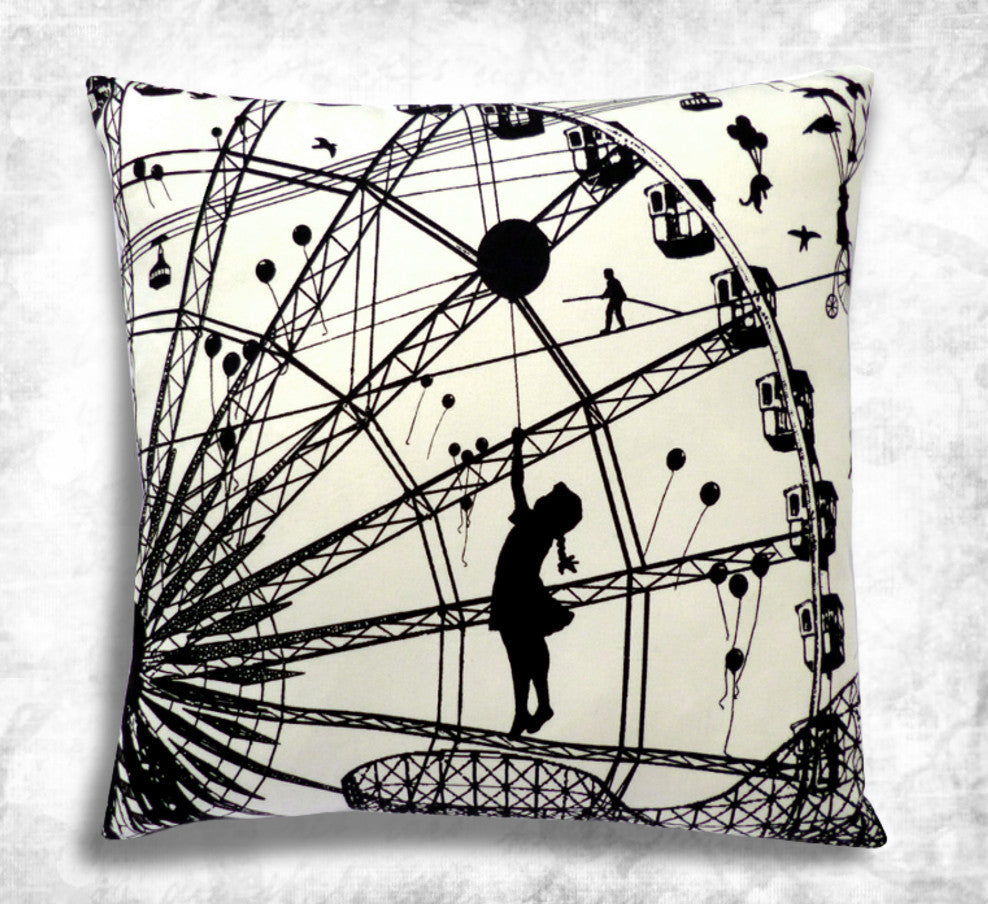Fairground Attraction cushion cover