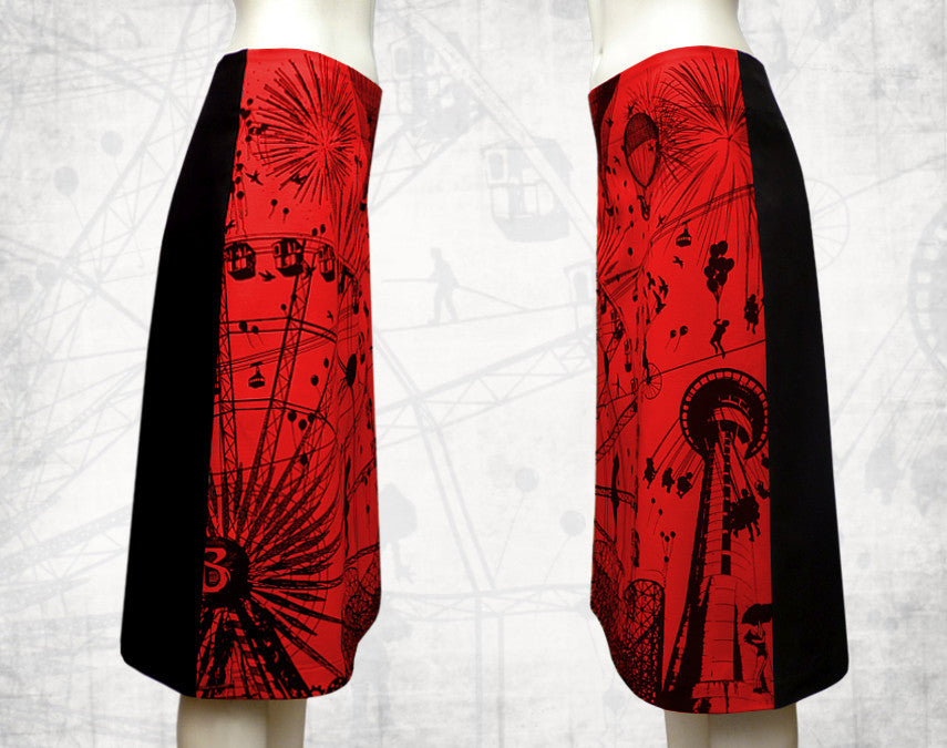 Fairground Attraction Skirt Red  3/4 length
