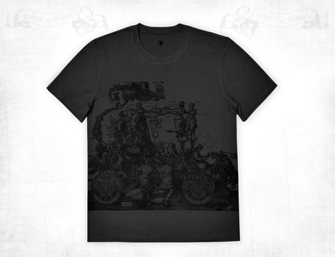 Medieval Chariot men's cotton short sleeve T-shirt ~ Charcoal grey