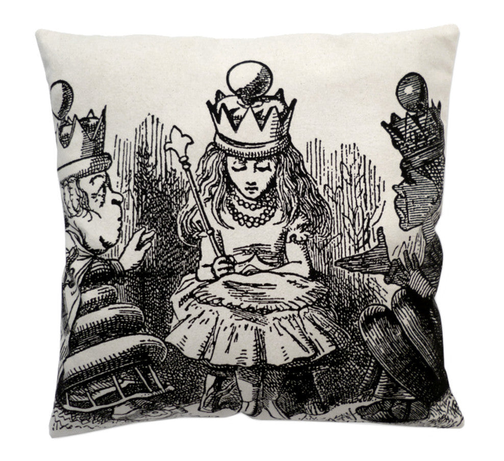 Alice in wonderland Queen for a day cushion cover