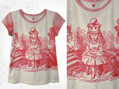 Alice in Wonderland 'Queen for a day' Cotton T-shirt ~ Red Queen