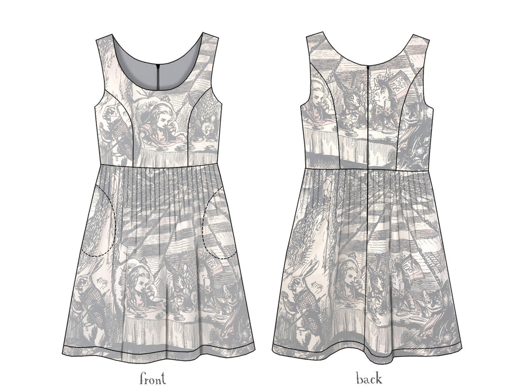 ff1812f0b678 Alice in Wonderland Mad Tea Party Tea-stained cotton dress ...