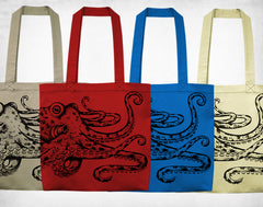 Octopus Cotton Tote bag
